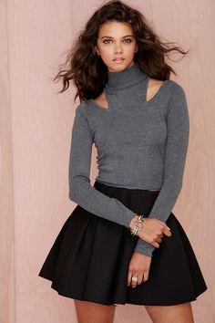 Nasty Gal Cara Cutout Turtleneck Sweater