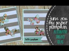 My Paper Pumpkin   June 2016 DIY Butterfly Shaker Cards - YouTube