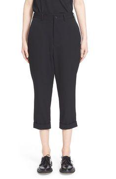 COMME DES GARÇONS Crop Wool Gabardine Trousers. #commedesgarçons #cloth #