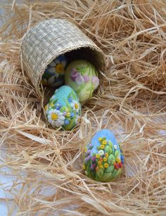 Easter Eggs Needle Felted Easter Ornaments Easter Decoration