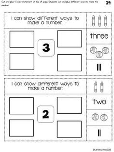 INTERACTIVE MATH NOTEBOOK FOR KINDERGARTEN {UNIT 1: NUMBERS 1-5} - TeachersPayTeachers.com