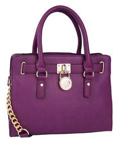 Another great find on #zulily! Purple Plora Satchel by MKF Collection #zulilyfinds