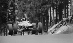 1966 German GP, Nurburgring : Dan Gurney, Eagle-Climax T1F/FPF 2.8 #12, Anglo-American Racers, 7th. (ph: © Schlegelmilch)