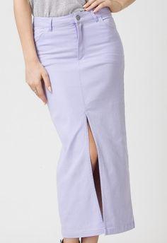 #Chicwish  Chicwish Ponti Pencil Skirt in Lavenda by Chic+