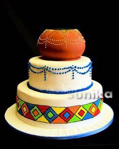 Zulu Traditional Wedding, Traditional Cakes, Traditional Dresses, Africa Cake, African Wedding Cakes, African Wedding Hairstyles, Zulu Wedding, Fiesta Cake, Wedding Cake Inspiration