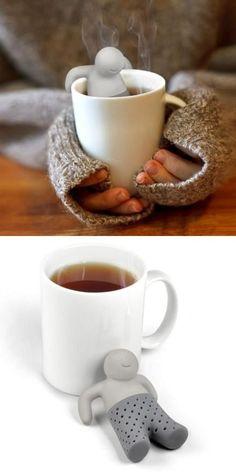 Creative people-shaped tea bag design