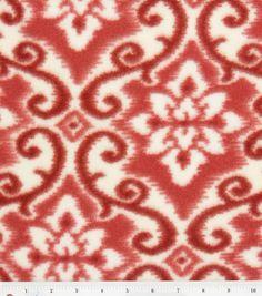 Anti Pill Fleece Fabric-Shoreham Red For Elke dress