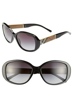Burberry 57mm Check Sunglasses | Nordstrom
