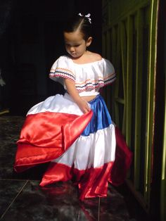 Costa Rican child in traditional dress