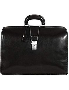 Floto Ciabatta Brief Black briefcase. * To view further for this item, visit the image link. (This is an affiliate link) Best Handbags, Fashion Handbags, Honey Brown, Briefcases, Ciabatta, Leather Briefcase, Italian Leather, Image Link, Fashion Design