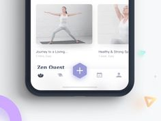 Yoga App Menu Concept tab bar menu ios mobile ui ux animation app gif interaction yoga fitness work out meditation Dashboard Design, Ui Ux Design, Game Design, Layout Design, Logo Design, User Interface Design, Web Layout, Graphic Design, Flat Design