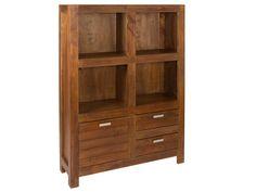 Estantería colonial de madera Ohio. Magnífico y espacioso mueble auxiliar de elegante estilo colonial.