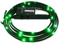 NZXT Sleeved LED Case Light Kit (Green) 1 Meter CB-LED10-GR by Nzxt. $12.07. The NZXT Sleeved LED Kit re-images the way enthusiasts sets up lighting inside the computer case. Traditionally, cold cathodes and even solid LED boards take up large amounts of space inside the case. Using sleeved wires paired with high density amount of LEDs, the NZXT LED kit allows users to hide lights between side panels and under components, creating an amazing glow effect. Lastly, the NZX...