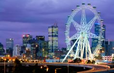 Come fly on the Melbourne Star, the Southern Hemisphere's only Giant Observation Wheel. Located in Docklands waterfront precinct in Melbourne Australia Melbourne Stars, Queen Victoria Market, Latest Stories, My Collection, Bilbao, Ferris Wheel, San Francisco Skyline, New Zealand, Fair Grounds
