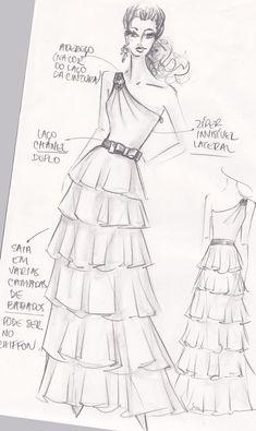 Dress Design By Adobe illustrator CC Dress Design Drawing, Dress Design Sketches, Fashion Design Sketchbook, Dress Drawing, Fashion Design Drawings, Fashion Drawing Dresses, Fashion Illustration Dresses, Fashion Model Sketch, Fashion Sketches