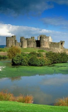 Caerphilly Castle In Wales, England