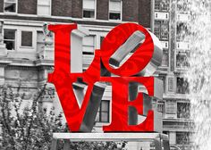 Love Photography Park Black and White Color Philadelphia Photo Valentine For The Love Of Your Life Lustre 5 x 7  Print