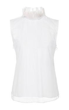 Sleeveless Ruffle Top by BURBERRY Now Available on Moda Operandi