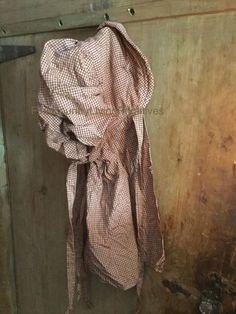 Primitive Country Farmhouse Handmade Prairie Bonnet ~ Stained Burgundy Homespun #NaivePrimitive