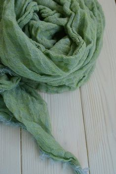Green linen scarf 100 % linen scarf gift for Mother linen Gifts For Your  Mom a0daf90b7f5d9