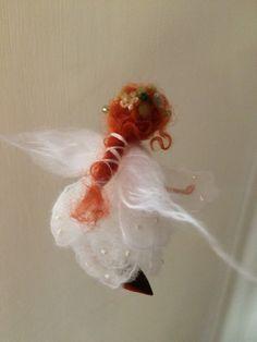 Nadel Filz Fairy Waldorf inspirierte Wool White von DreamsLab3