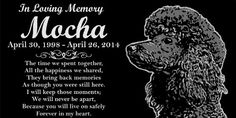 Personalized Black Poodle Dog Pet Memorial Engraved Black Granite Grave Marker Head Stone Plaque * You can get additional details at the image link. Pet Dogs, Pets, Dog Items, Black Granite, Dog Memorial, Pet Memorials, In Loving Memory, Head Stone, Black And Brown
