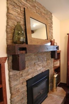 Solid pine, Mantels and Wood shelves on Pinterest