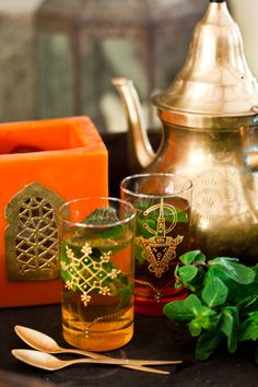 Té a la menta - this is traditionally from Morocco but it's drunk in the gulf too..