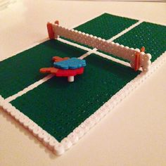 Ping Pong table hama beads by billyholm