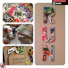 Cute ideas for how to recycle your race bibs #running #diy