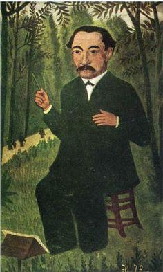 Henri Rousseau (1844 - 1910) | Naïve Art (Primitivism) | Henri Rousseau as Orchestra Conductor
