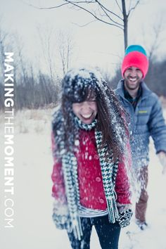 This couple is too cute! I want winter engagement pictures! I do. I do.