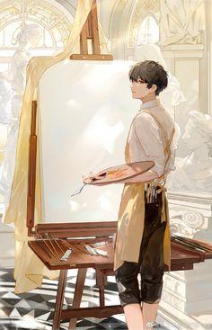 Fan Art Anime, Anime Oc, Manga Anime, Anime Art Girl, Cute Anime Boy, Anime Guys, Art Mignon, Art Manga, Anime Boy Drawing