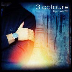 r-watch 3 colours Daniel Wellington, Colours, Watches, Wristwatches, Clocks