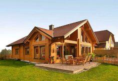 2 Bedroom House Plans, Dream House Plans, Cabins In The Woods, House In The Woods, Dream House Exterior, Home Design Plans, Log Homes, Building A House, House Design