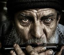 Inspiring image , , age, art, beard, beautiful, cool, expressive, face, faces, favorites, harmonica, hat, hobo, interesting, macro, man, men, mouth organ, music, old, old man, people, photo, photography, portrait, top 50 #33895 - Resolution 332x499px - Find the image to your taste