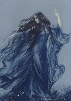 Luthien Illustration for the Silmarillion by Tolkien