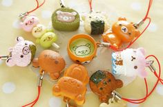 1pc Rilakkuma Japanese Sweets Charm Choose Number by misssapporo