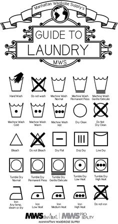 The Meaning of Laundry Symbols Manhattan Wardrobe Supply Wardrobe Organisation, Organization, Laundry Symbols, Family Command Center, Manhattan, Laundry Room Inspiration, Hacks Every Girl Should Know, Laundry Hacks, Clean Freak