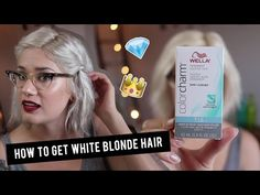 Today I show you exactly how to get your hair white blonde at home! Get rid of yellow tones in your blonde hair with Wella toner and 20 volume cream deve. Toning Blonde Hair, Blonde Hair At Home, Yellow Blonde Hair, Ice Blonde Hair, Silver Blonde Hair, Blonde Hair Care, Icy Blonde, White Blonde, Going Blonde