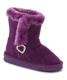 Look what I found on #zulily! Purple Heart Buckle Boot by Chatz by Chatties #zulilyfinds