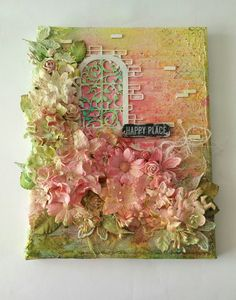 New mixed media inspirational canvas in my Etsy shop - Happy Place