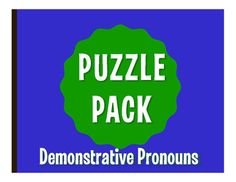 Puzzle packs are a fun, no prep way to review! With a variety of puzzles, you can allow students to differentiate by learning style or difficulty level. They also make great sub plans  the whole packet can easily fill an hour! All puzzles have been solved and checked and answer keys are included.This puzzle pack includes:1 crossword puzzle1 word search1 word scramble2 challenge puzzlesThis activity reviews Spanish demonstrative pronouns  ste, se, aqul, etc.If you like this idea  NO PREP…