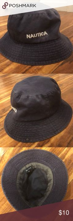 e17d45922a3 Shop Women s Nautica Blue size OS Hats at a discounted price at Poshmark.  Description  Navy bucket cat