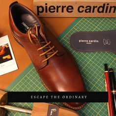 "#PierreCardin India 🇫🇷 on Instagram: ""Escape the ordinary. TRY IT. LOVE IT. BUY IT. pierrecardinindia.com #escape #ordinary #mensfashionpost #design #premium #shoes #flatlay…""#handcrafted #pencil #insole #postacrd #graph #laces #brown #cognac #tan #formalbrownshoesformen #footwear #shoponline #handstitched #leather"