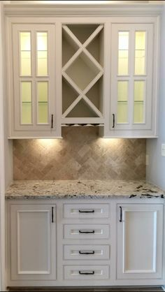 Image result for white kitchen with pantry coffee bar