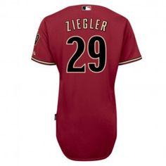 Arizona Diamondbacks MLB Brad Ziegler Cool Base Authentic Player Jersey (Red)