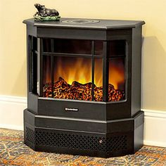 NEW Electric Fireplaces Just In For Fall! An Adorable Little Electric  Heater For Small Spaces  Small Electric Fireplaces