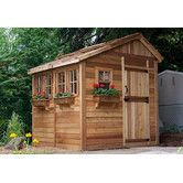 Found it at Wayfair - Sunshed 8 Ft. W x 12 Ft. D Wood Garden Shed