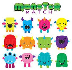 artsy-fartsy mama: Free Printable Monster Match Game